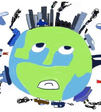 Kinderzeichnung Weltkugel