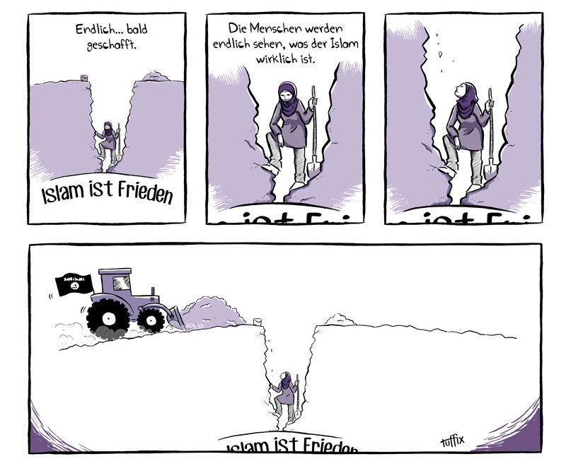 Comic über den friedlichen Islam
