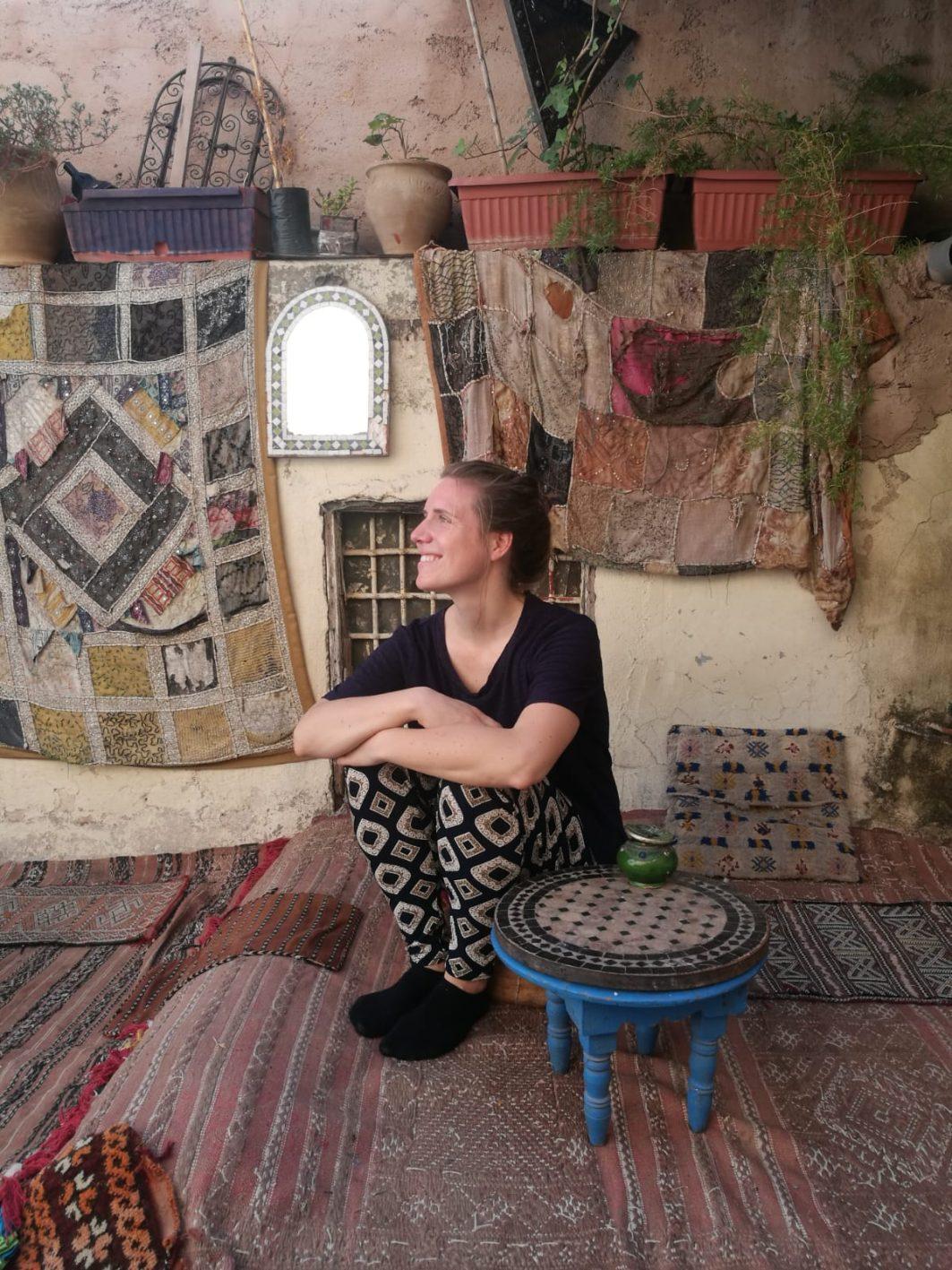 Jennifer Lehnen in Fès, Marokko.