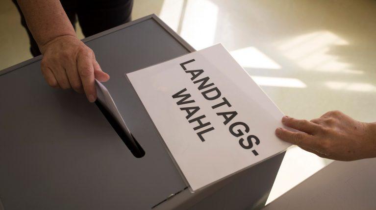 Wahlurne der Landtagswahl