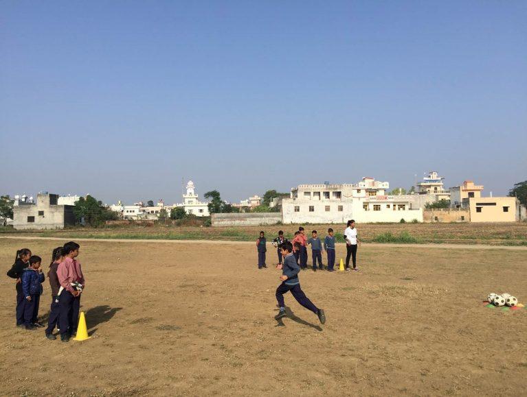 Fußballtraining in Jamsher in Indien