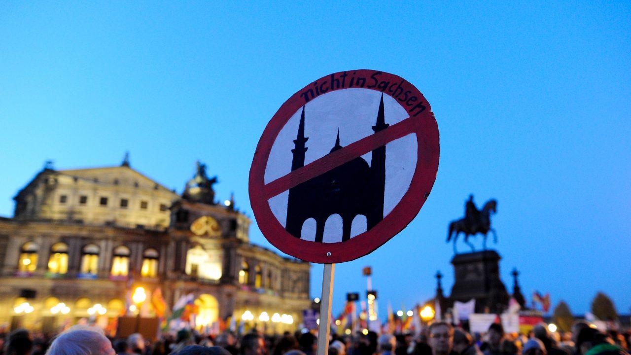 Pegida-Demo in Dresden