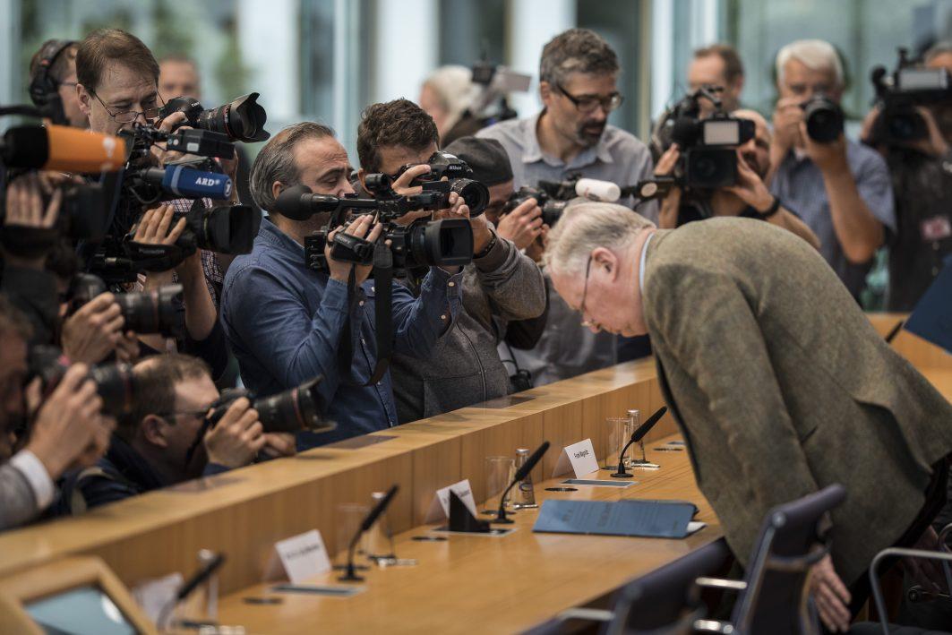 Alexander Gauland in der Bundespressekonferenz