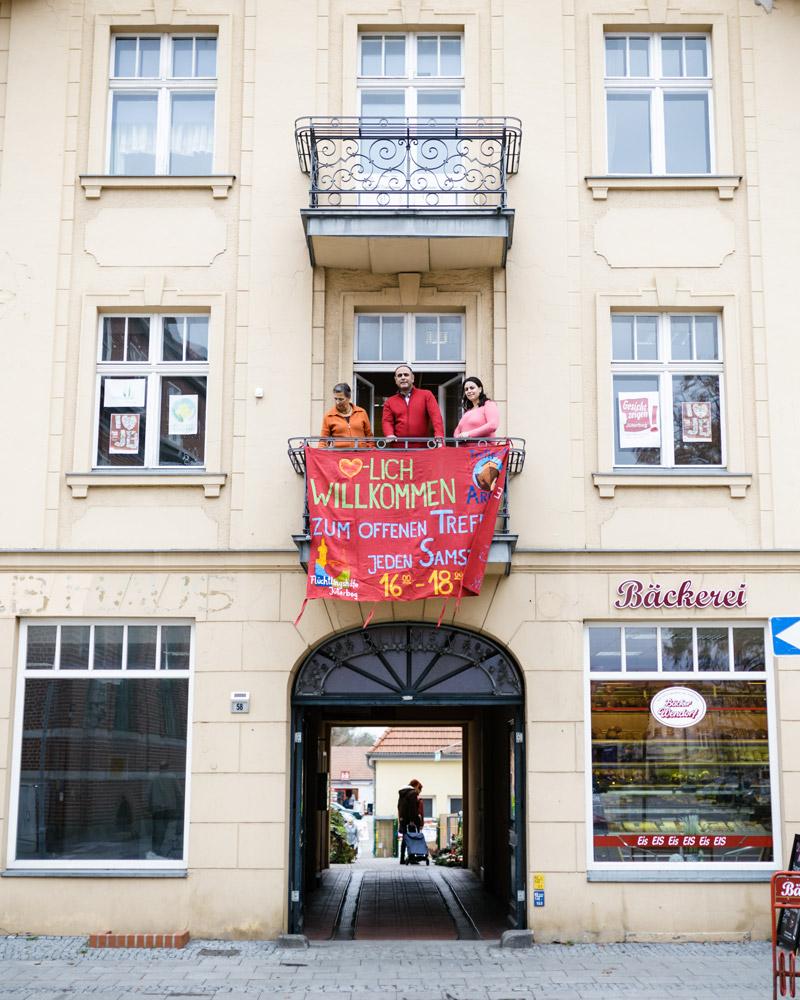 Jeden Samstag lädt die Flüchtlingshilfe Jüterbog zum offenen Treff ein.