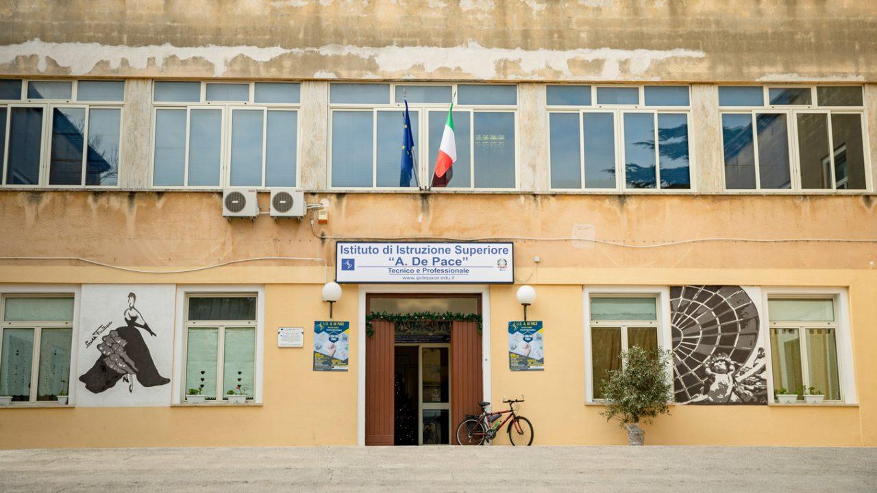 Die De-Pace-Oberschule in Lecce.