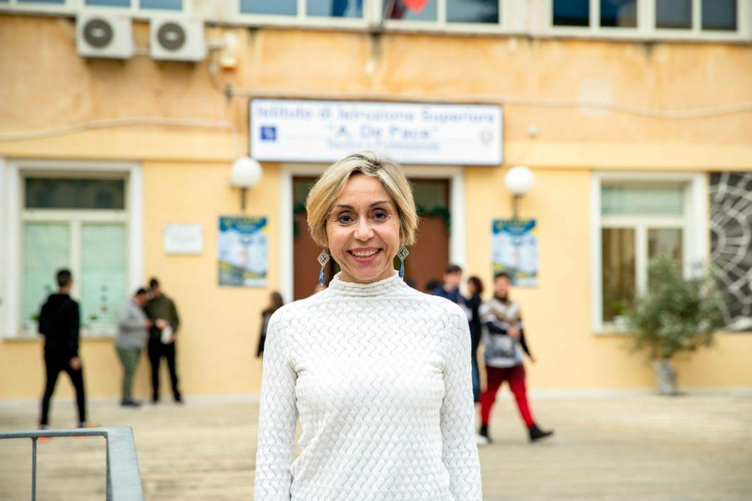 Silvia Madaro Metrangolo, Schulleiterin De-Pace-Oberschule in Lecce