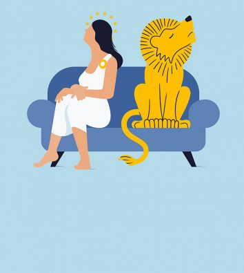 Illustration: Großbritannien und die EU auf einem Sofa.