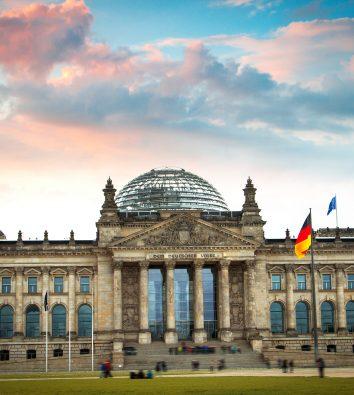 Das Reichstagsgebäude in Berlin