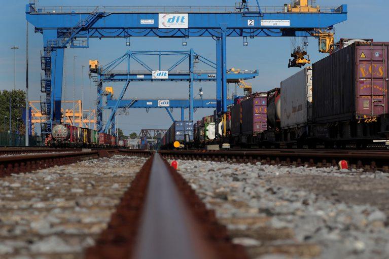 Bahnterminal am Duisport.