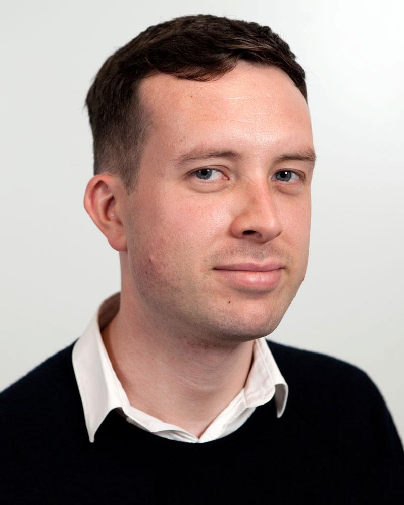 Porträt von Andrew Murphy, Experte für den Flugverkehr bei der Brüsseler Organisation Transport & Environment