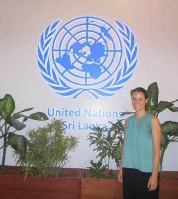 Laura Wenz bei den United Nations in Sri Lanka