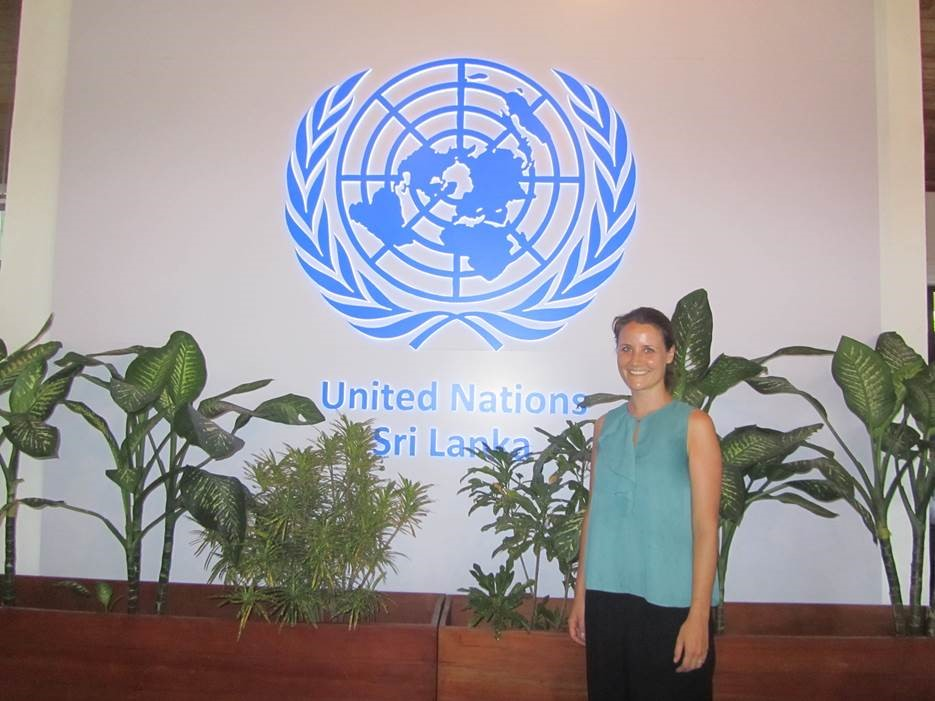 Laura Wenz bei den United Nations in Sri Lanka