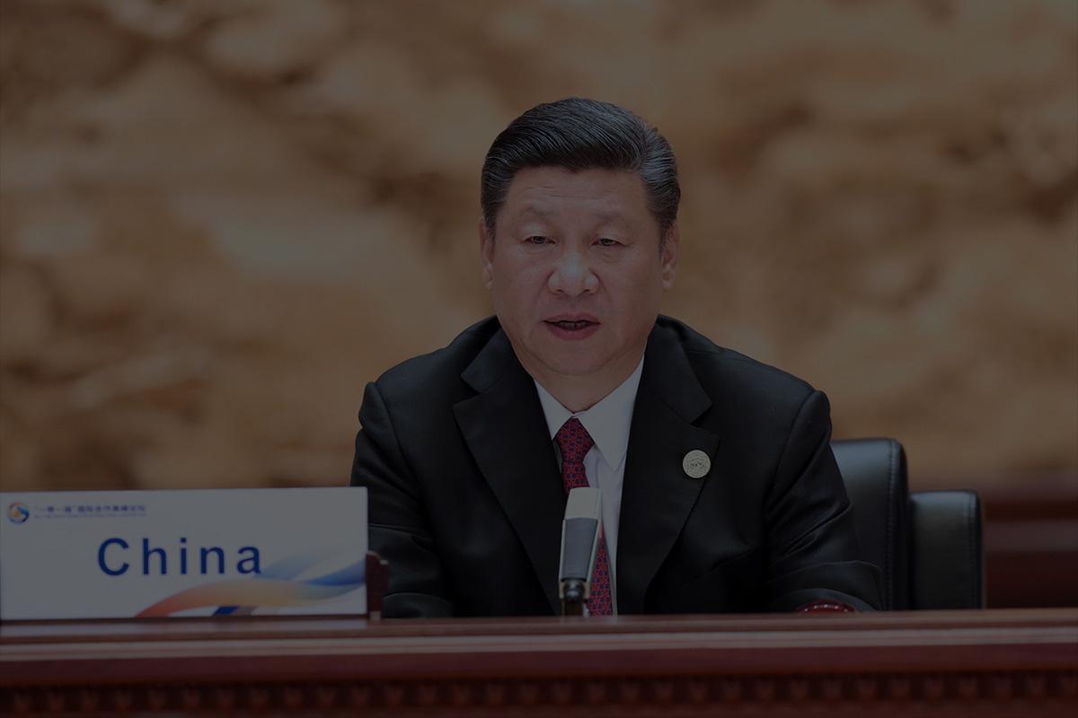 Xi Jinping, Generalsekretär der Kommunistischen Partei Chinas auf einer internationalen Konferenz