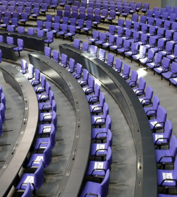 leerer deutscher Bundestag