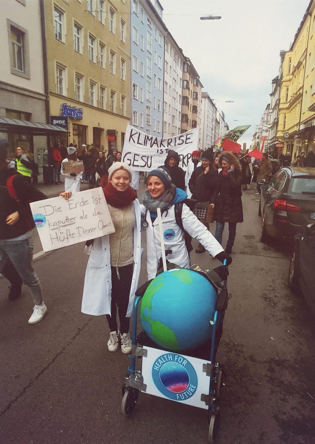 Leonie Dudda bei einer Klima-Demo