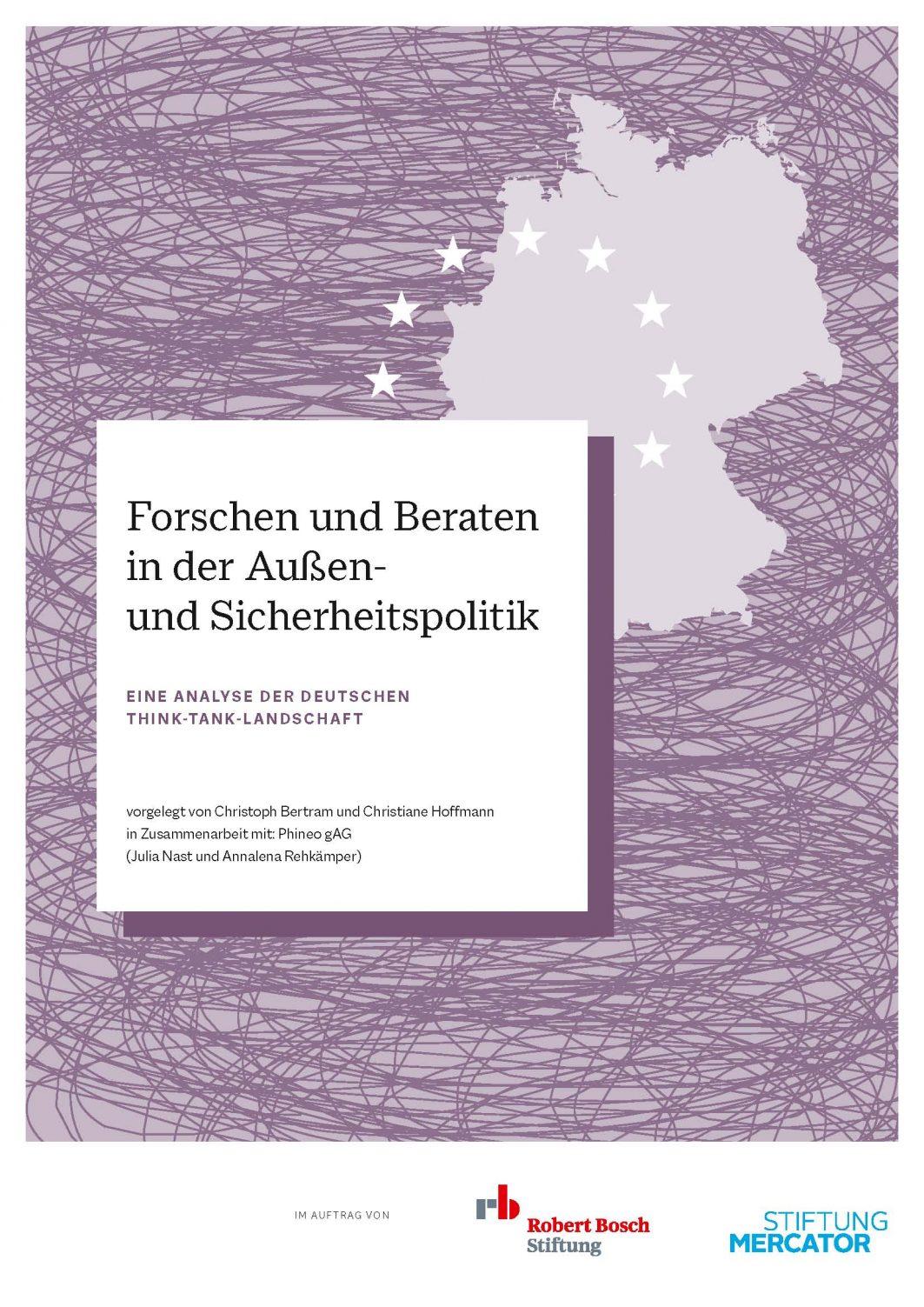 Poster Forschen und Beraten in der Außen- und Sicherheitspolitik. Eine Analyse der deutschen Think-Tank-Landschaft