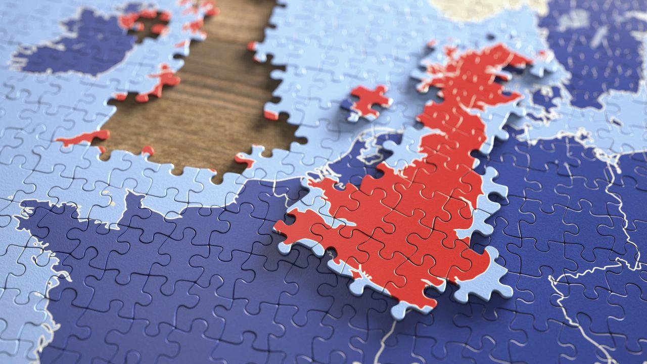 Großbritannien verlässt die EU Brexit London Brüssel Puzzle