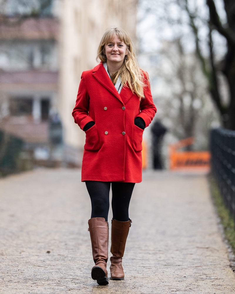 Die 30-jährige Amélie Jaques-Apke in Berlin