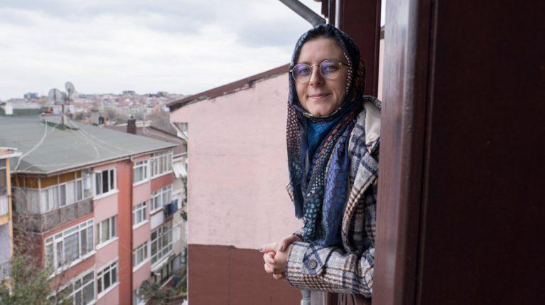 Eine Aktivistin für Frauenrechte in der Türkei