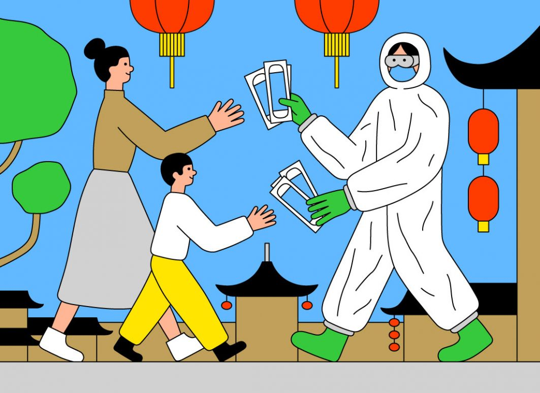Corona als Bewährungsprobe für NGOs: In der Provinz Hubei halfen Stiftungen bei der Lieferung von Masken und Lebensmitteln an die Bewohner*innen im Lockdown.