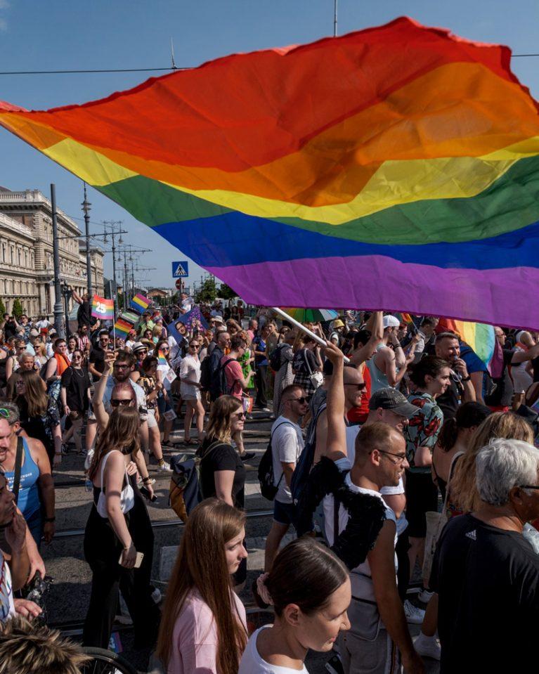 Die jährliche Pride Parade Ende Juli 2021 in Budapest.
