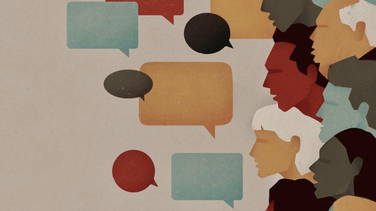 Illustration Menschen & Sprechblasen